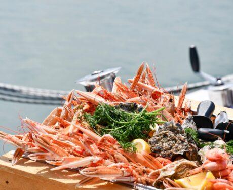 Konferens med skaldjur på menyn